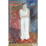 Pozdeev kartina portret devushka v belom plat'e