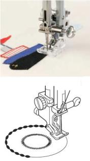 APPLIQUE FOOT FOR CATEGORY Top Loading Models - PART NO 202023001