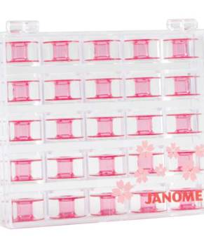 JANOME PINK BOBBINS 25 Pack - Limited Edition