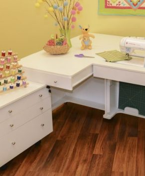KANGAROO AND JOEY SEWING CABINET - White