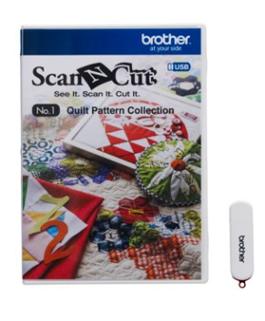 BROTHER SCAN AND CUT - USB No. 1 Quilt Pattern Collection - CAUSB1