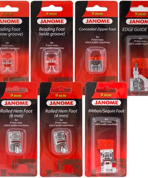 Janome Fashion & Finishing Accessory Kit for 9mm Machines