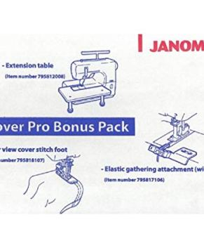 Janome CoverPro Bonus Pack for 1000CPX / 2000CPX - Ext. Table and feet