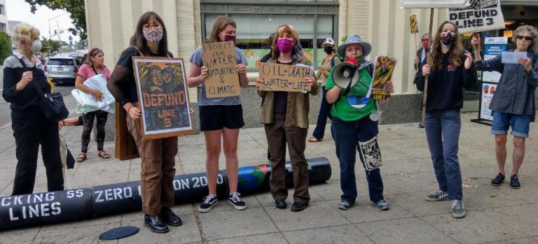 Scenes from the Santa Cruz Stop Line 3 Demonstration
