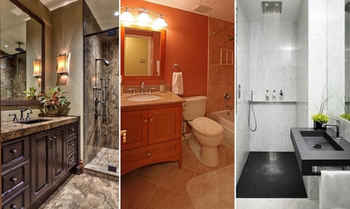 дизайн маленькой ванной комнаты 2018 фото 2