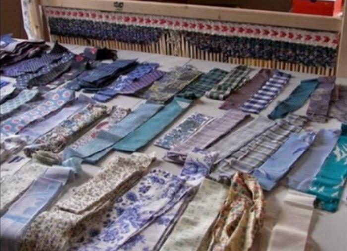 Текстильная пряжа из старых футболок.