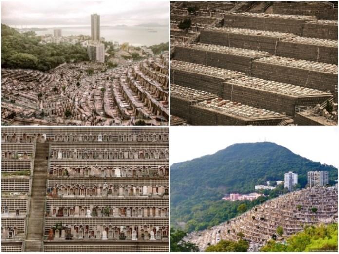 Мегаполисы мертвых тесно соприкасаются с жилыми новостройками Гонконга. | Фото: archdaily.com/ Finbarr Fallon.