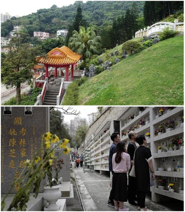 Комплекс Po Fook Hill - современный колумбарий, который больше напоминает красивый парк с традиционными архитектурными сооружениями и лестницами (Гонконг). | Фото: poznamka.ru.