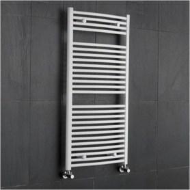 radiatore-cromato-curvo-in-bianco