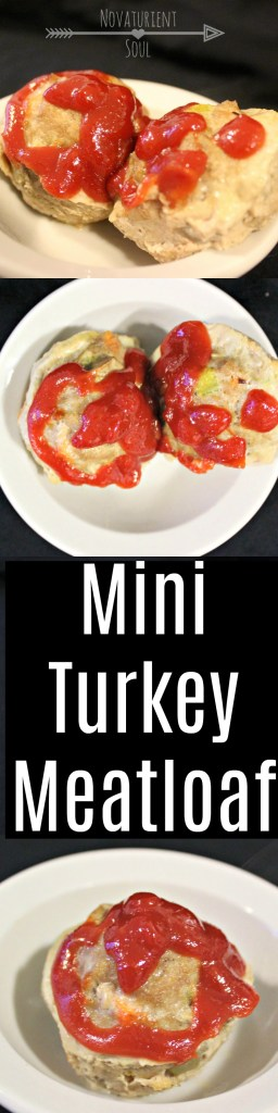 Healthy mini meatloaf recipe made with ground turkey! - NovaturientSoul.com