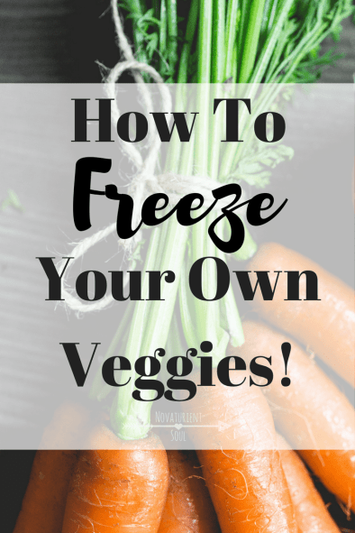 Don't let those fresh vegetables go to waste! Learn how to freeze your own veggies to save money! - NovaturientSoul.com