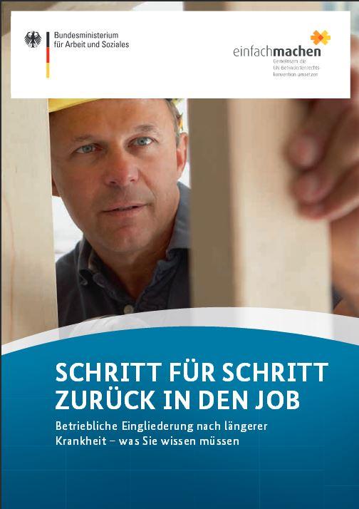 Broschüre zurueck-in-den-beruf-vom Bundesministerium fuer Arbeit-und-Soziales