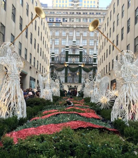 Rockefeller Center - decoração de dezembro em Nova York
