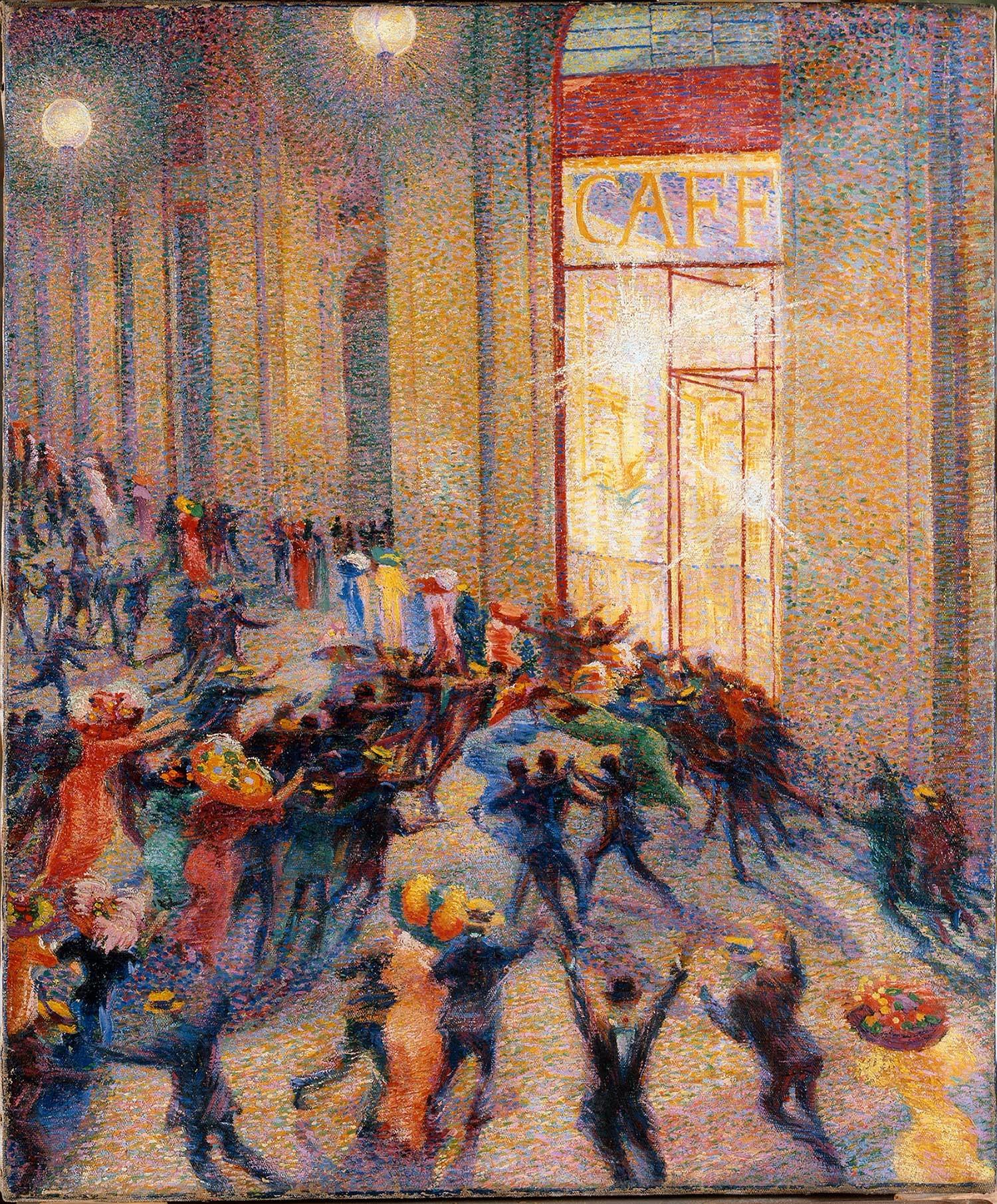 "Umberto Boccioni, ""Rissa in galleria"", 1910"
