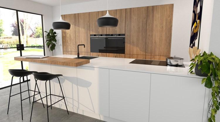 witte-keuken-met-houten-barblad-2