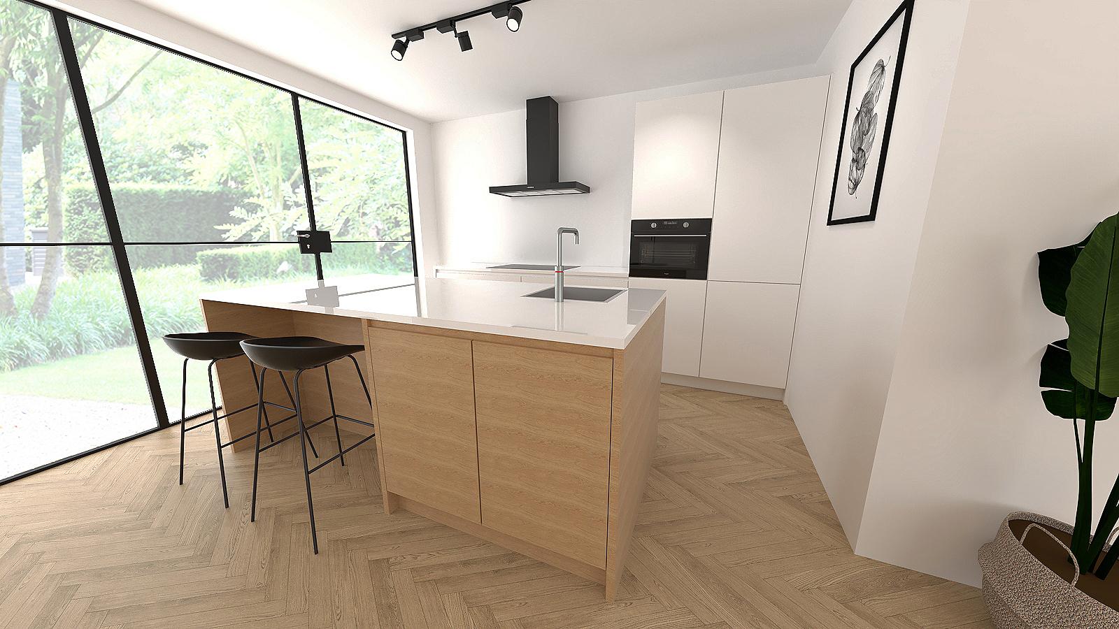 witte-keuken-met-houten-eiland