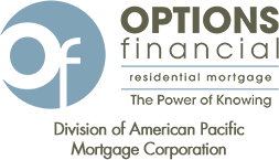 options financial residential mortgage logo