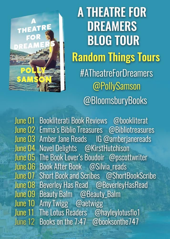 A Theatre For Dreamers blog tour poster