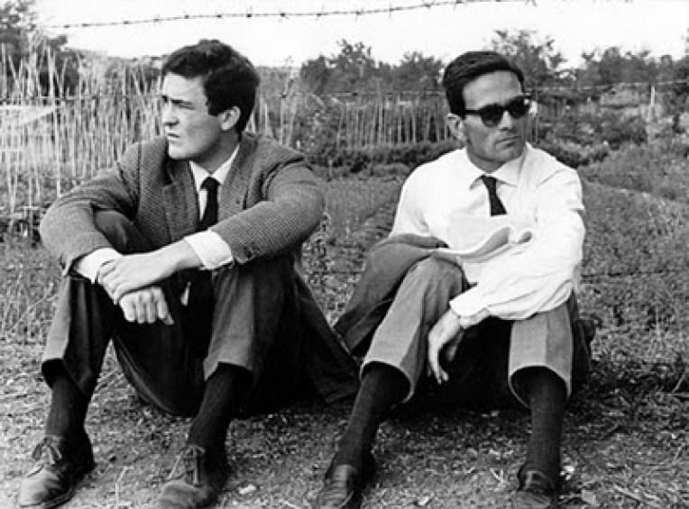 Pasolini mit Bertolucci