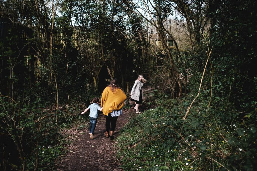 photographs of family spending time together at forest of dean