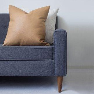 Leather Cushion - Styled