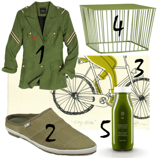 Olive Green Moodboard