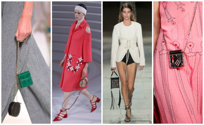 L to R: Hermès, Anya Hindmarch, Isabel Marant, Valentino | Photos: Vogue
