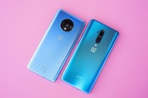 OnePlus 7T next to OnePlus 7T Pro (right) - One Plus 7t Pro hands-on review