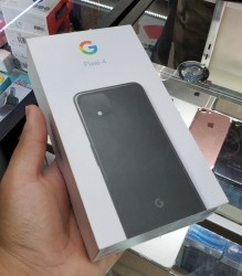 Pixel 4 (64GB, Just Black) retail box, note the contents