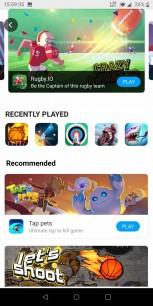 New features: Instant games