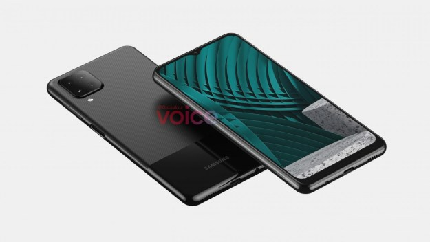 Samsung Galaxy M12 CAD-based renders show an A42-like design