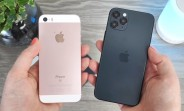 iPhone 12, 12 Pro, and 12 Pro Max dummies shown on video, compare with older iPhones