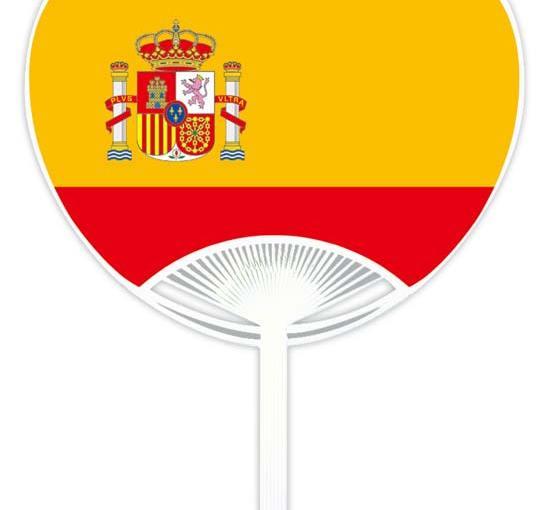 国旗・応援うちわ スペイン [商品No.114]