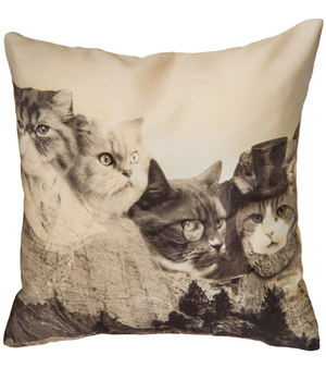 Meownt Rushmore Pillow (18-inch)