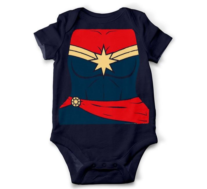 Captain Marvel Costume Onesie