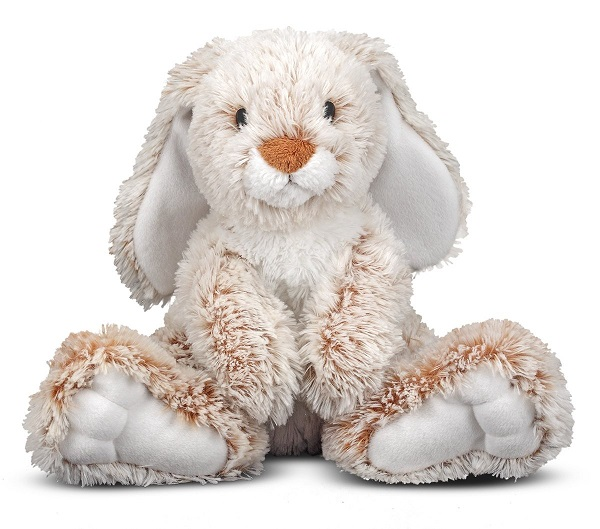 Melissa & Doug Plush Burrow Bunny Rabbit Stuffed Animal