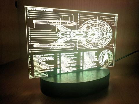 Star Trek Acrylic Light