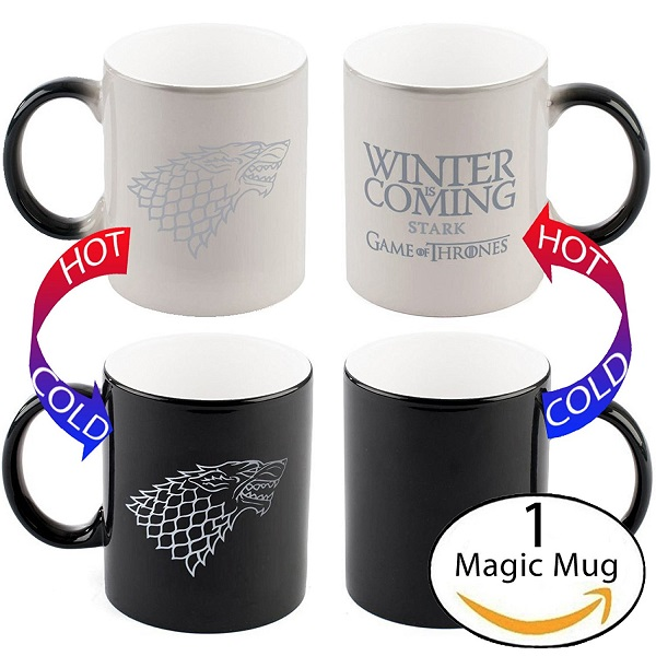Game of Thrones Winter Is Coming Heat Sensitive Mug