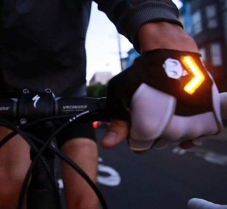 Turn Signal Bicycling Gloves