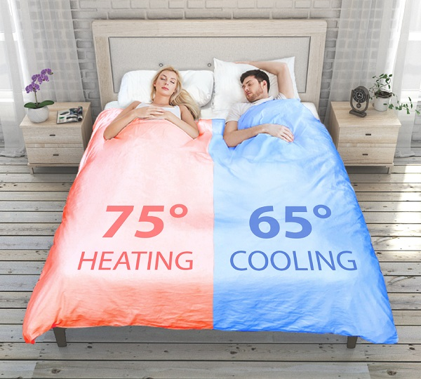 Smartduvet Breeze: Dual-Zone Temp Self-Making Bed
