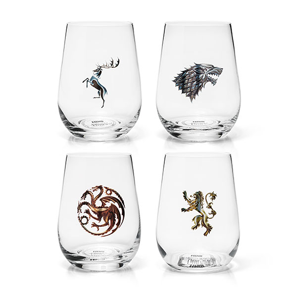 Game of Thrones Stemless Wine Glass Set of 4