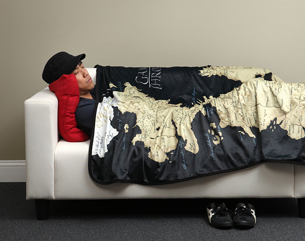 Game of Thrones Map of Westeros Fleece Blanket