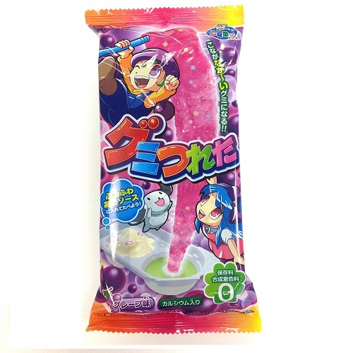 Long Long Gummy Cyandy Grape Flavor
