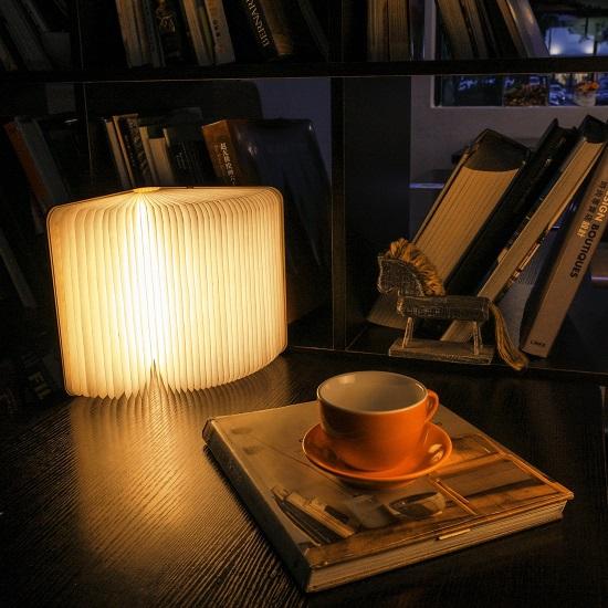 Wooden Folding Book Light