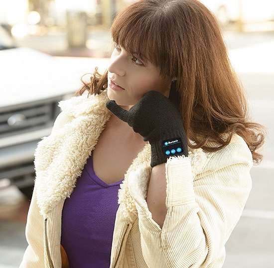 Wireless Gloves with a Built-in Mic & Hi-Fi Speakers