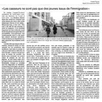29.11.2005 - Sur les casseurs, Ouest-France