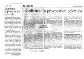 29.11.2005 - Provocation coloniale, Le Monde
