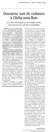 30.10.2005 - Deuxieme nuit, Le Monde