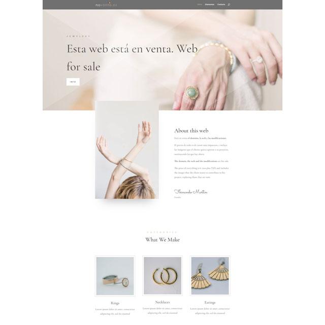 web de joyería