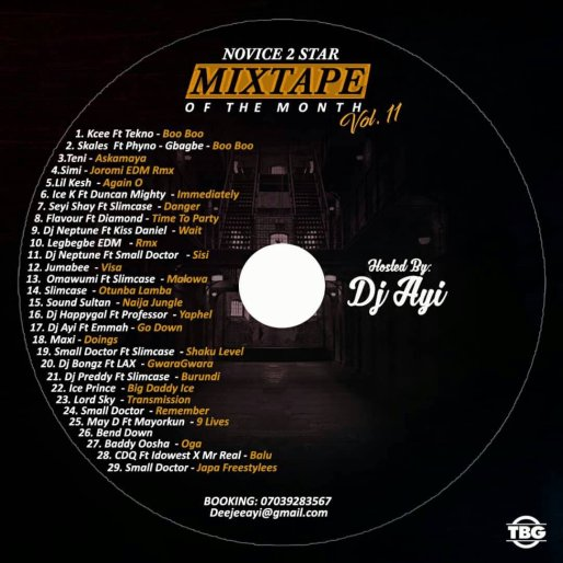 Novice2STAR x DJ Ayi – August Naija Mixtape